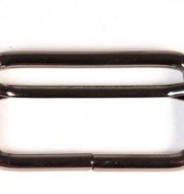 Schuifgesp 40mm nikkel met verschuifbaar middenstuk