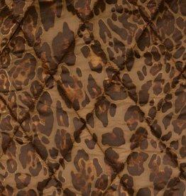Stepper gestept met luipaardmotief matelassé (incl voering) glanzend bruin