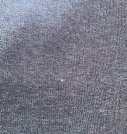 Gebreide stof donker blauw gemengd