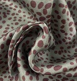 La Maison Victor Viscosesatijn gevlekt - LMV FELINE jurk