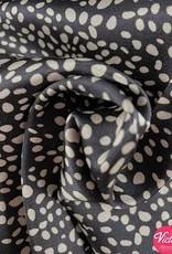 La Maison Victor Viscosesatijn vlekjes - LMV FELINE jurk