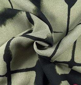 La Maison Victor Viscose zachtkaki met zwart raster - LMV
