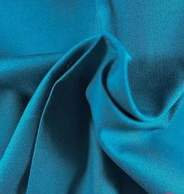 La Maison Victor Katoenstretch popeline petrol - LMV Maxime blouse