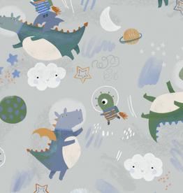 Katia Fabrics Softshell  Astro Palls grijsblauw