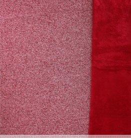 Breisel met fleece red mélange