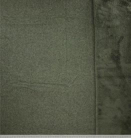 Breisel met fleece kaki mélange