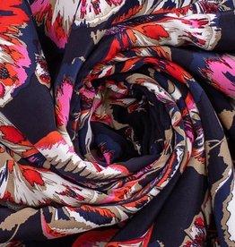 Viscose flower & leafs print