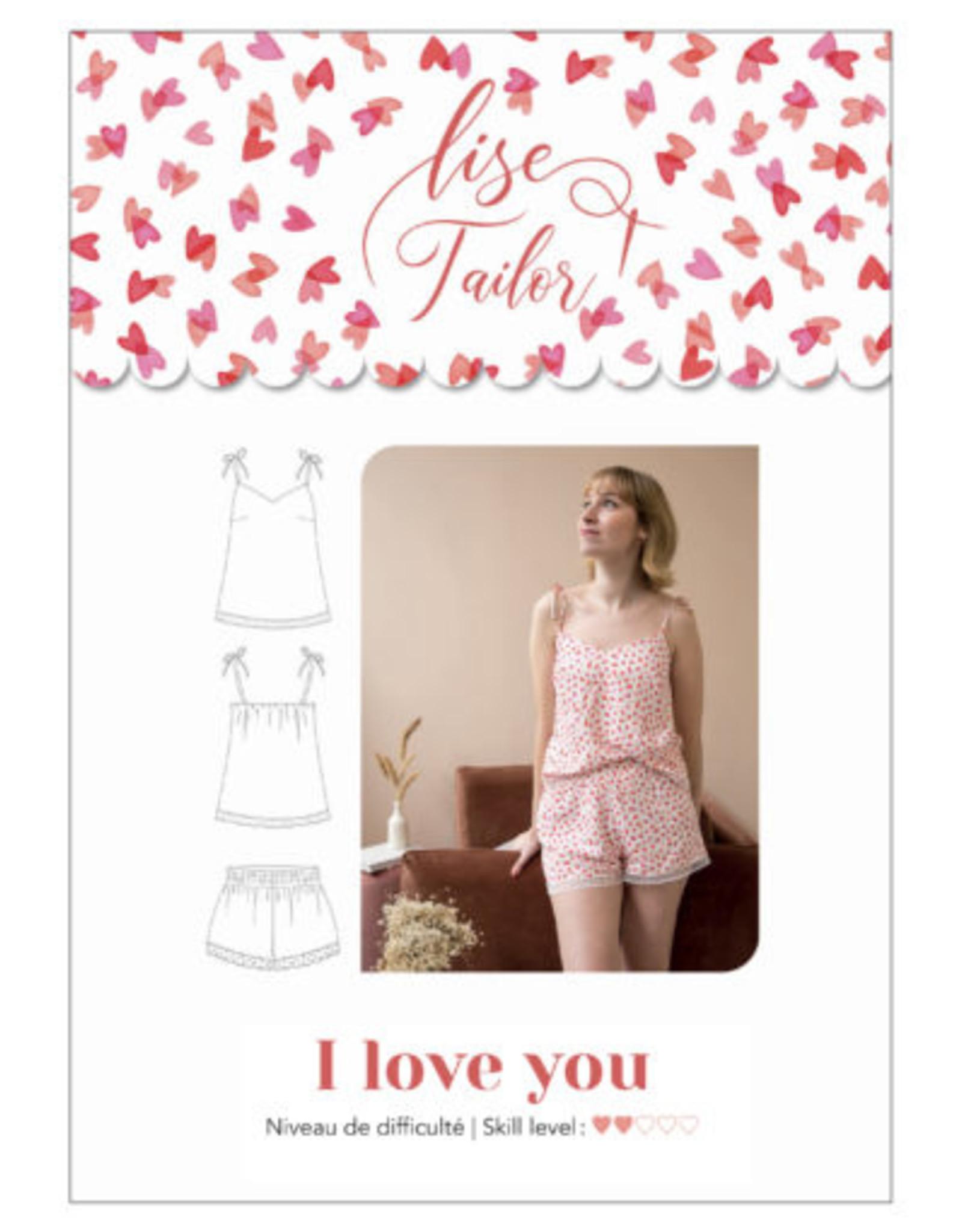 Lise Tailor I love you - slaapsetje top + short