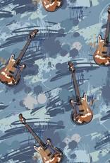 Jersey digital print rock guitar