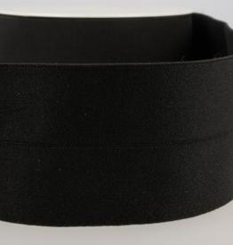 Voorgevouwen elastiek 30mm zwart