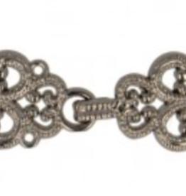 Slotje voor jas metallic chic gunmetaal 4cm