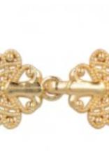 Slotje voor jas metallic chic goud 4cm rond