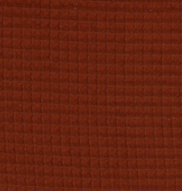 Poppy Wafel katoen roest/brique