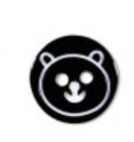 Kinderknoopje beertje zwart 13mm