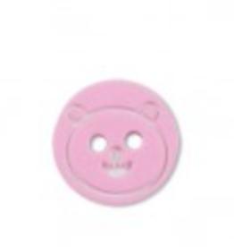 Kinderknoopje beertje roze 13mm