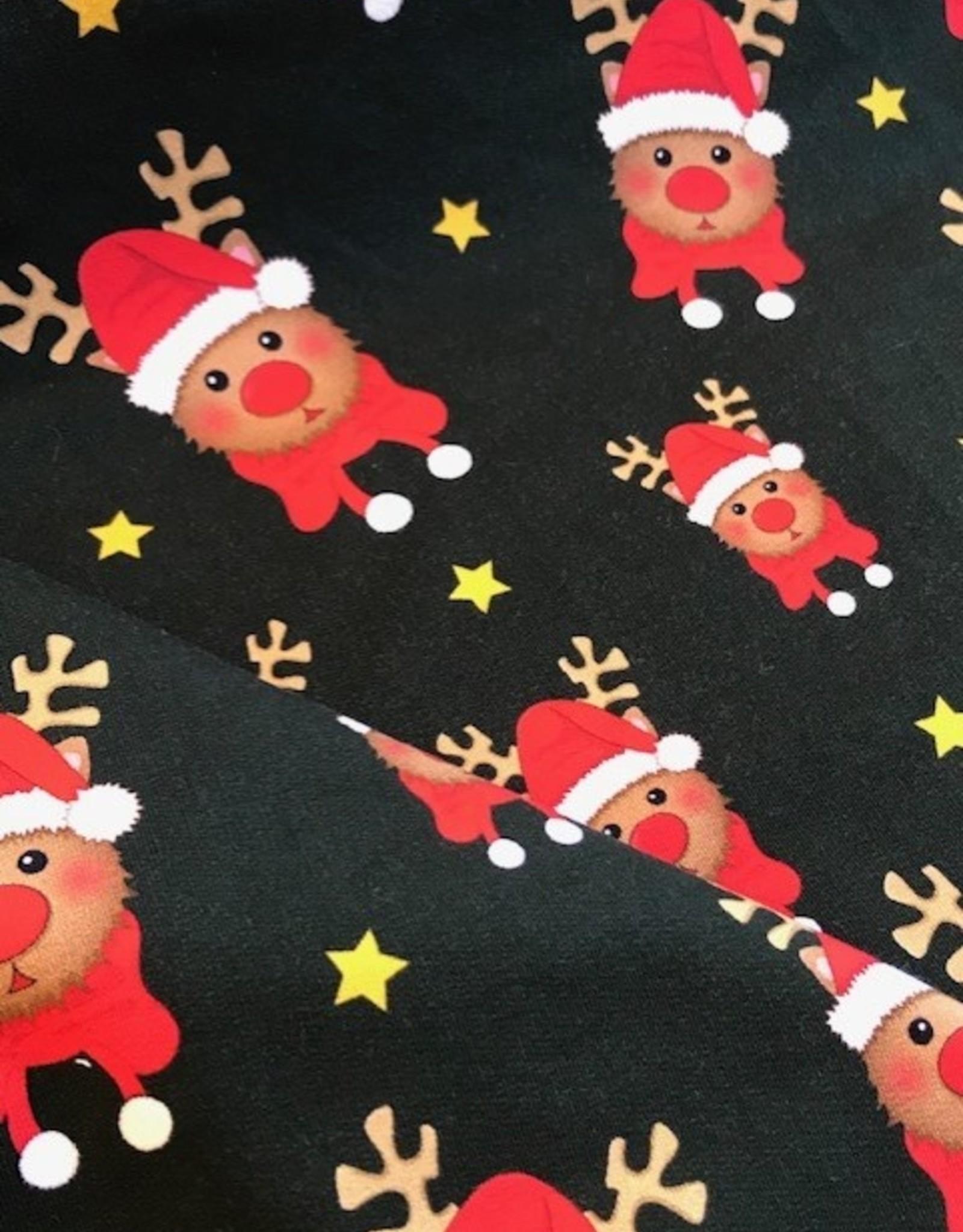 swafing French terry Kerstmis rendier Toronto dennengroen