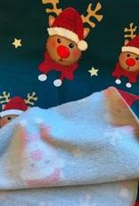 swafing French terry Kerstmis rendier Toronto petrol