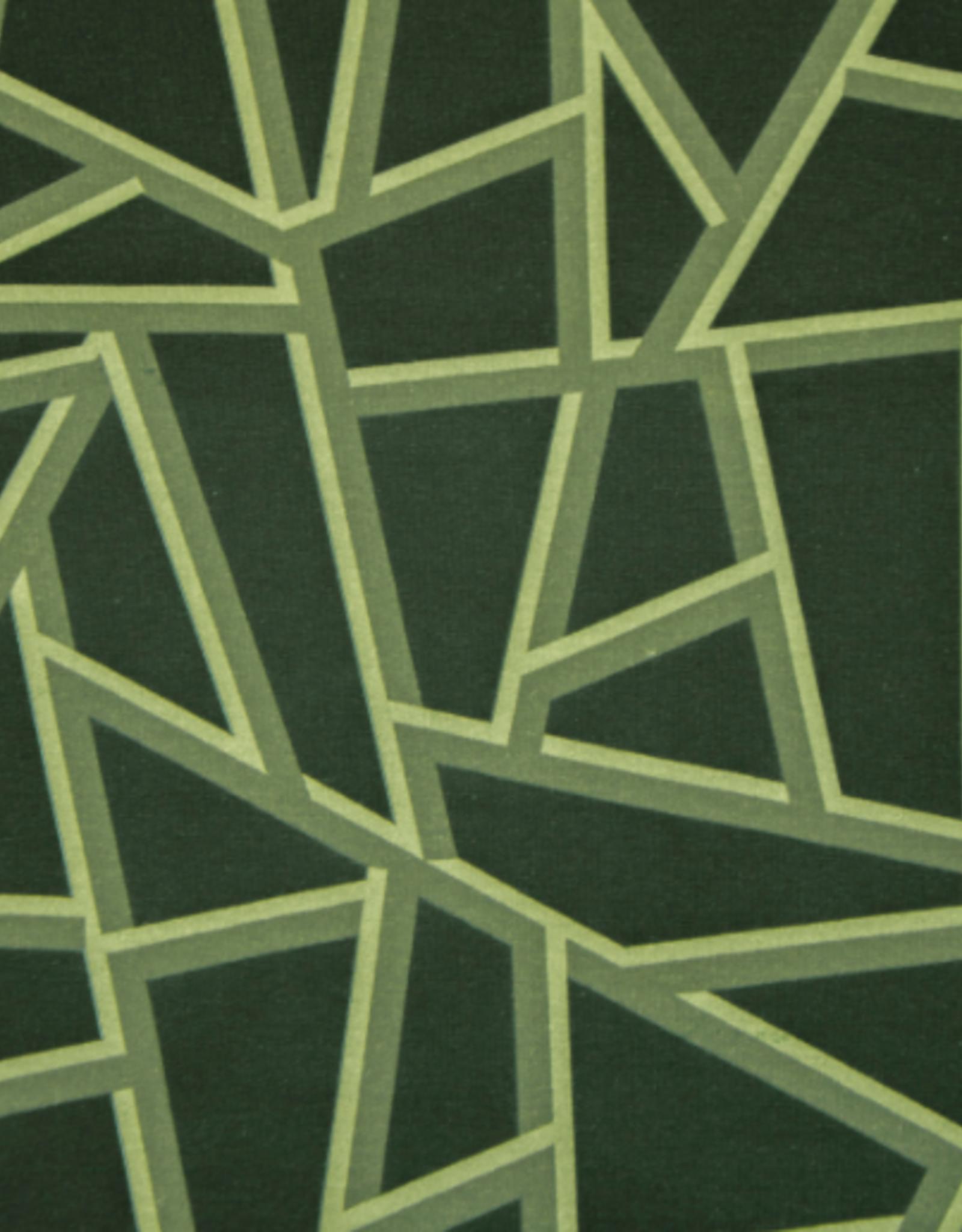Hilco Big Pattern 11 Green Geometric