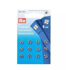 Prym Prym - Aannaaidrukkers zilver 6mm - 341 241