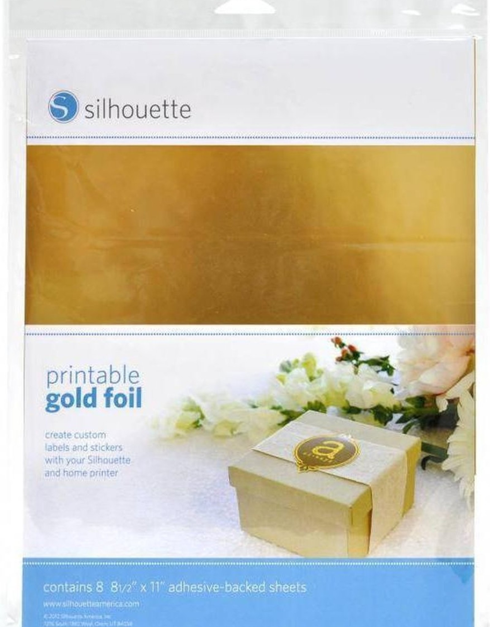 silhouette Silhouette printable Gold Foil