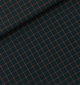 See You At Six Thin Grid - S  - Cotton Canvas Gabardine Twill - Forest River- R