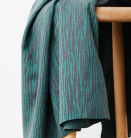 Mind the Maker Organic bark jacquard - calm grey / chalky green