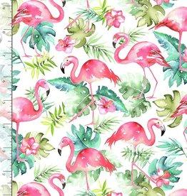 Fun flamingo white