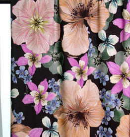 Large soft coloured flowers viscose