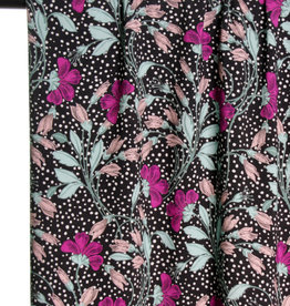 Flowers and dots viscose