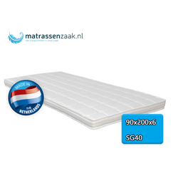 Topper - 90x200 - 6 cm dik -  Polyether SG40
