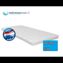 Topper - 90x200 - 8 cm dik -  Polyether SG40