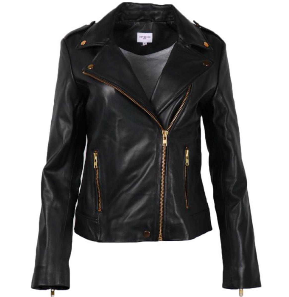 Est'Seven A/W Lederen Jacket van het merk Est'Seven