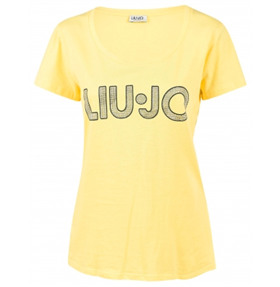 Liu.Jo T-shirt Logo Geel Liu.Jo