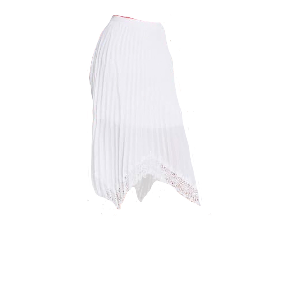 Guess by Marciano Midi skirt Plisse White Guess by Marciano