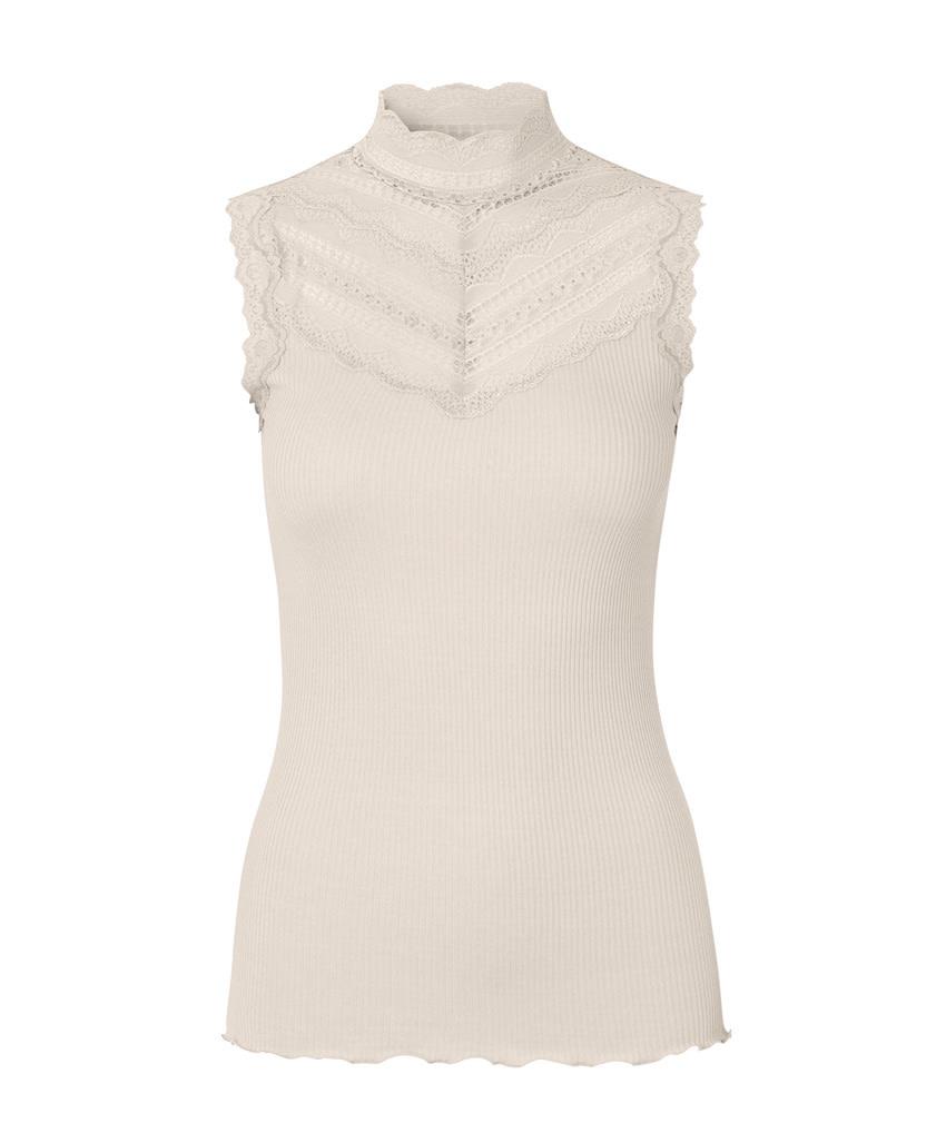 Rosemunde S/S Silk Top Regular wide lace ivory Rosemunde