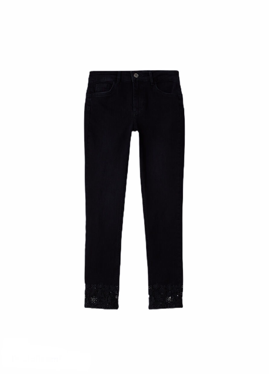 Liu.Jo A/W Skinny Jeans with lace  b.up black Liu.Jo