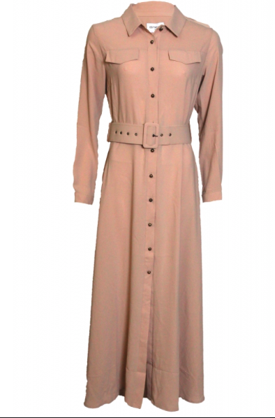 Est'Seven A/W est'long dress beige est seven