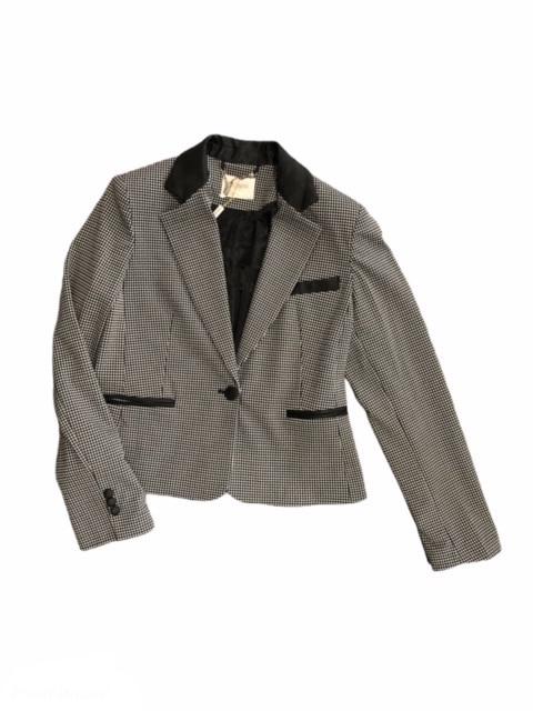 Fracomina Tailored Jacket Blackwhite Fracomina