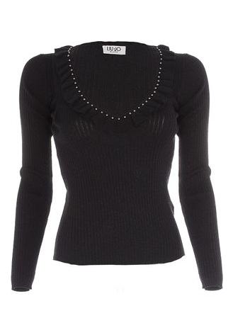 Liu.Jo A/W sweater maglia chiusa nero lux Liu.Jo