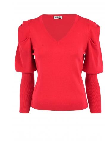 Liu.Jo A/W Sweater Maglia Chiusa Red Liu.Jo