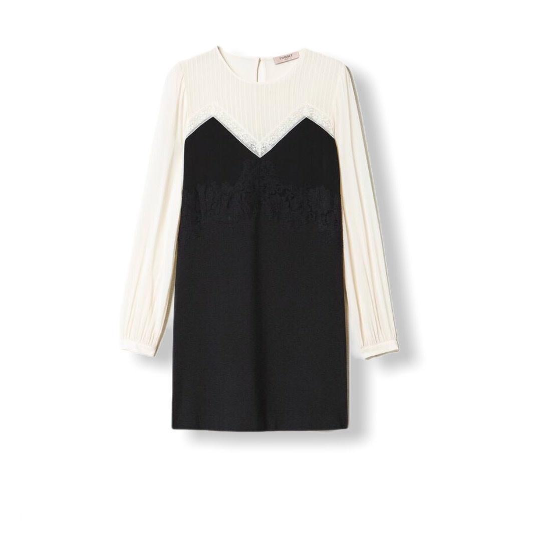 Twin-Set A/W Dress with Lace Abito Twin-Set