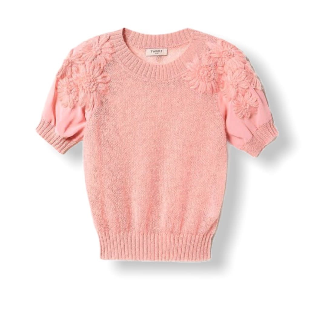 Twin-Set A/W Knitted Sweater Peach Twin-Set