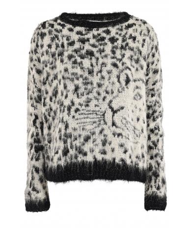 Liu.Jo A/W Trui Maglia Leopard  Black Liu.Jo