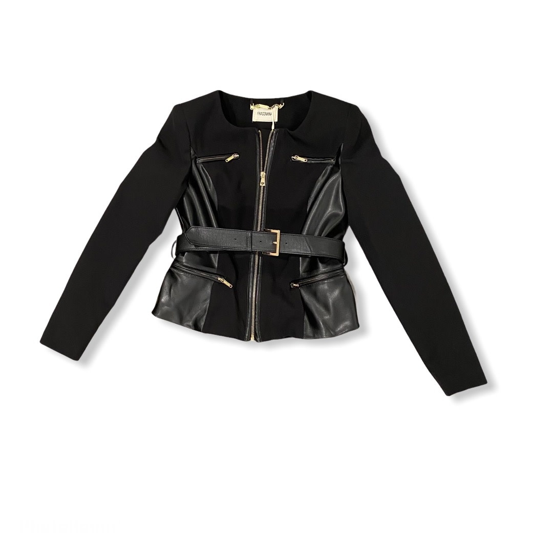 Fracomina S/S Chanel Eco Leather Biker Jacket Fracomina