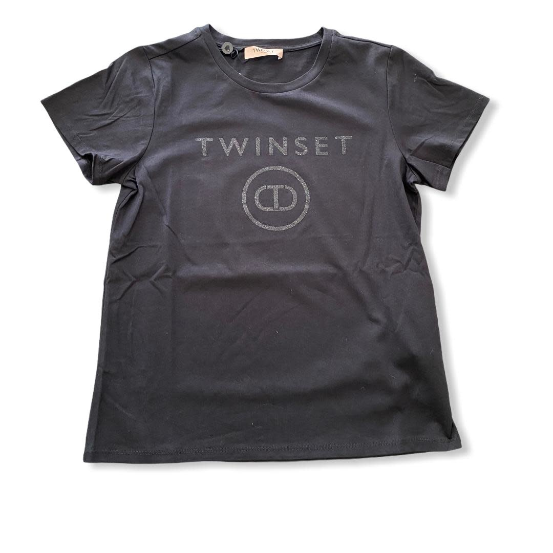 Twin-Set S/S T-shirt Nero Twin-Set