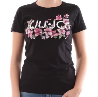 Liu.Jo S/S T-shirt Flowers nero Liu.Jo