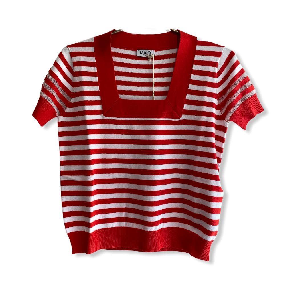 Liu.Jo S/S T-shirt stripes true red Liu.Jo