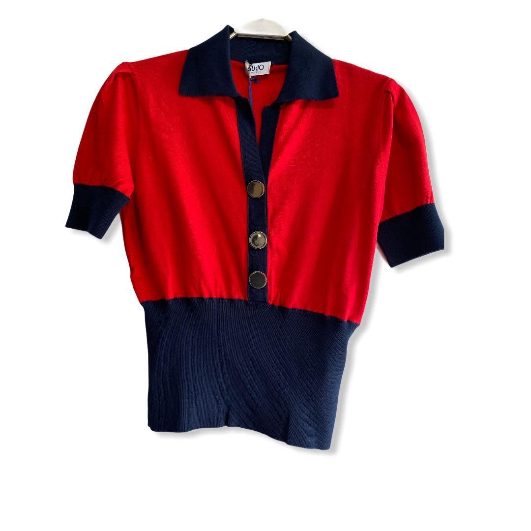 Liu.Jo S/S T-shirt maglia chiusa red Liu.Jo