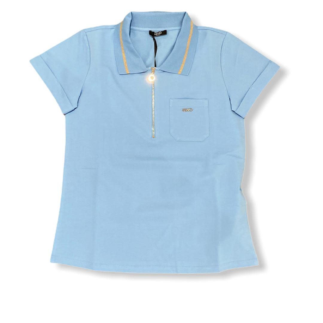 Liu.Jo Sport S/S Polo t-shirt soft sky Liu.Jo Sport