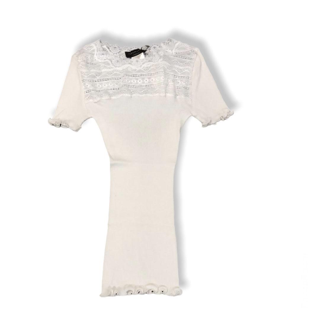 Rosemunde S/S Silk t-shirt regular wide lace new white Rosemunde